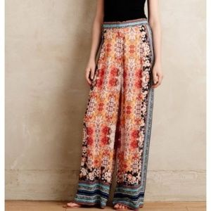 [Anthropologie] Wide Leg Floral Palazzo Pants